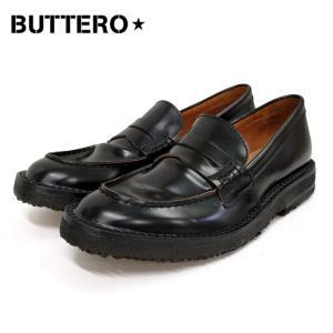 BUTTERO ブッテロコインローファー(B6652)ブラック メンズシューズ レザー 革靴 紳士靴 ペニーローファー|ramblebyziema