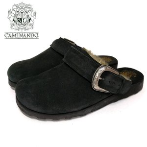 CAMINANDO カミナンドスエードレザー ネイティブバックル サンダル(16120)ブラック メンズシューズ 紳士靴 革靴 カジュアル シューズ ramblebyziema