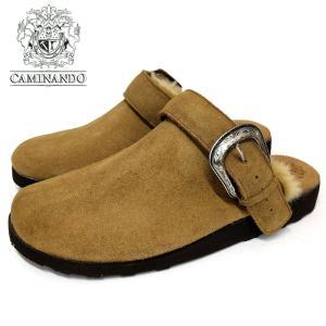 CAMINANDO カミナンドスエードレザー ネイティブバックル サンダル(16120)カーキ メンズシューズ 紳士靴 革靴 カジュアル シューズ ramblebyziema
