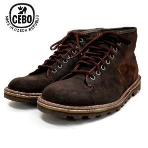 CEBO セボスエードレザー モンキーブーツ (92002S) ダークブラウン メンズシューズ 革靴 レザーシューズ ワークブーツ|ramblebyziema