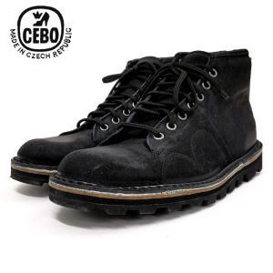 CEBO セボスエードレザー モンキーブーツ (92002S) ネイビー メンズシューズ 革靴 レザーシューズ ワークブーツ|ramblebyziema