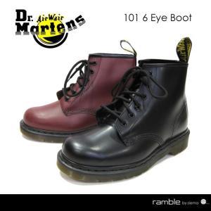 Dr.Martens ドクターマーチン 6ホールブーツ 101 6EYE BOOT ブラック(10064001) チェリーレッド(10064600) ramblebyziema