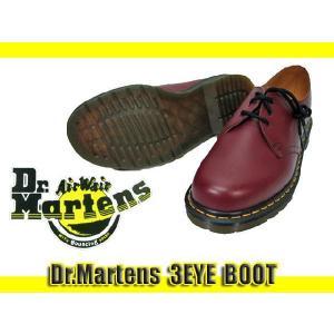 Dr.Martens ドクターマーチンチェリーレッド 3ホールブーツ 3EYE BOOT (10085600)|ramblebyziema