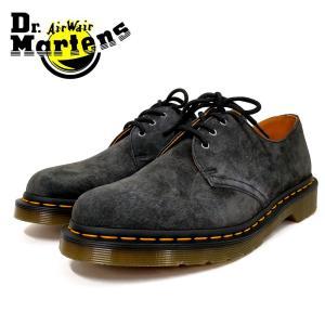 Dr.Martens ドクターマーチン1461 Soft Buck 3 EYE (21471070)GRAPHITE GRAY ヌバックレザー 3アイレットシューズ グレー メンズシューズ ramblebyziema