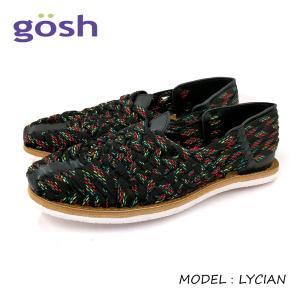 GOSH ゴッシュマルチカラーメッシュ フラットサンダル (LYCIAN) メキシコ製 スリッポン サンダル メンズシューズ|ramblebyziema