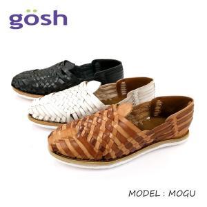 GOSH ゴッシュメンズ レザーメッシュ ウーヴン スリッポンサンダル(MOGU) メキシコ製|ramblebyziema