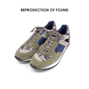 【REPRODUCTION OF FOUND リプロダクション オブ ファウンド】1990s French Trainer (1300FS) カモフラージュベージュ スニーカー|ramblebyziema