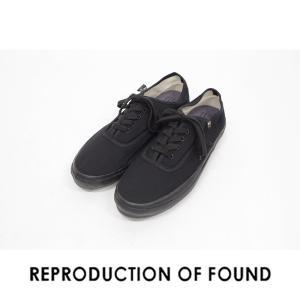 【REPRODUCTION OF FOUND リプロダクション オブ ファウンド】US NAVY MILITARY TRAINER ミリタリートレーナー 5851C black ブラック|ramblebyziema