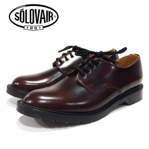 【SOLOVAIR (ソロヴェアー/ソロベアー)】 プレーントゥシューズ バーガンディー 4EYE SHOE BURGUNDY  メンズシューズ 革靴 カジュアル 紳士靴 ramblebyziema