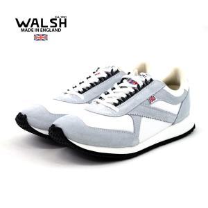 【WALSH ウォルシュ】レザーランニングスニーカー VOYAGER (VOY50011) WHIT...
