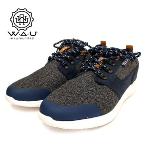 WAU/WE ARE UNITED ウィーアーユナイテッド LIGHTWINDMID メンズスニーカー(Wc96036) Textil Grey/テキスタイル グレー|ramblebyziema