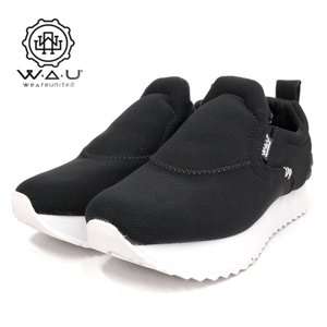 WAU/WE ARE UNITED ウィーアーユナイテッド DAKOTA レディーススニーカー(Wc96069) NeoPrene Black/ブラック|ramblebyziema