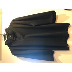 ☆送料無料☆【古着】メンズ ヘリンボーン編みイタリアンカラー7分袖ポロシャツ ramkins