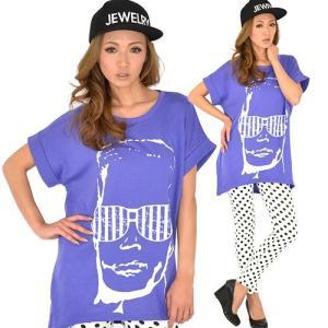☆送料無料☆【新品】3coler!袖折り返し◆サングラスメン ゆったりビッグTEE 半袖 ビッグTシャツ ビックTシャツ|ramkins