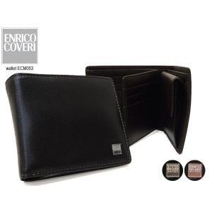 ENRICO COVERI(エンリココベリ)セノ ベラ付き折財布  パスケース ボタン ECM053) 053|rammy