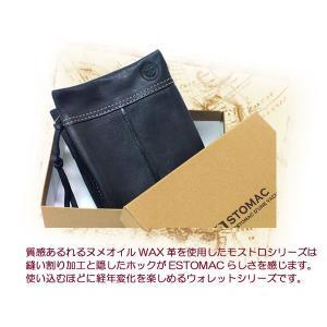 ESTOMAC エストマ モストロ ベラ付き二つ折財布 ファスナー  33301|rammy