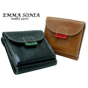 EMMA SONIA エマソニア コロン 二つ折財布 ボタン  33701|rammy