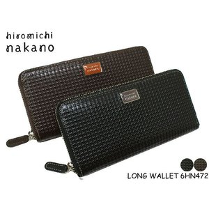 hiromichi nakano(ヒロミチナカノ)メンズ トゥース 束入れ( 長財布 ファスナー )472 6HN472|rammy