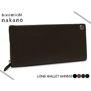 hiromichi nakano(ヒロミチナカノ)メンズ ボルサ 束入れ(長財布 通帳サイズ対応 ファスナー )532  6HN532|rammy