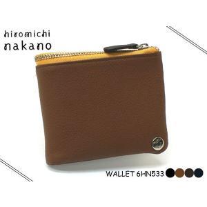 hiromichi nakano(ヒロミチナカノ)メンズ ボルサ 折財布(ボタン)533  6HN533|rammy