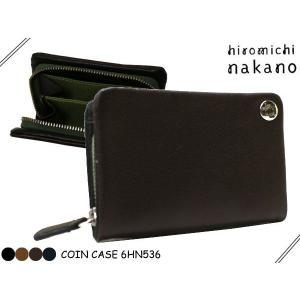hiromichi nakano(ヒロミチナカノ)メンズ ボルサ 小銭入れ(コインケース ラウンドファスナー )536  6HN536|rammy