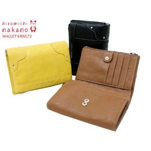 hiromichi nakano ヒロミチナカノ レディース・ソフト合皮折財布 ファスナー・6HNL73 73|rammy