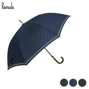 Ramuda 長傘 ダイヤ柄 大きい傘 紳士傘 軽量 軽い メンズ ギフト プレゼント 父の日 誕生日 敬老の日 傘寿 ramuda