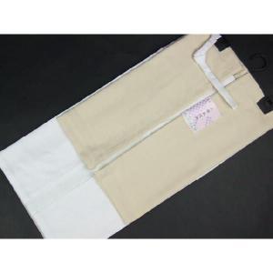 高級 二部式襦袢 半衿・えもん抜付 裾除 Lサイズ 2JL14|ran