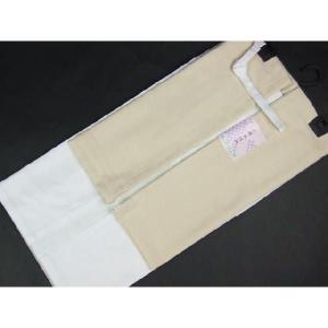 高級 二部式襦袢 半衿・えもん抜付 裾除 Mサイズ2JM14|ran