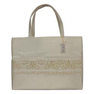 つづれ織り バッグ 結婚式 サブバッグ パーティーバッグ トートバッグ TOB-3 日本製 ゴールド|ran