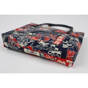和柄 バッグ 横型 手提げ トートバック WG-14 日本製 花和小紋|ran|02