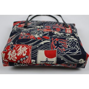 和柄 バッグ 横型 手提げ トートバック WG-14 日本製 花和小紋|ran|07