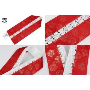 振袖用 正絹 薔薇柄レース付き 重ね衿(伊達衿) 3種類 キラキララメ入り 日本製 ran 02