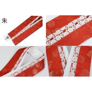振袖用 正絹 薔薇柄レース付き 重ね衿(伊達衿) 3種類 キラキララメ入り 日本製 ran 03