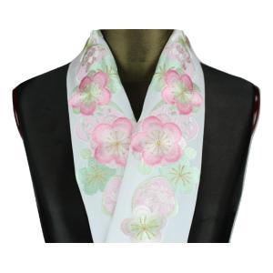 半襟 H-11 刺繍半襟 絹交織 半衿 振袖 訪問着 小紋 半衿 日本製|ran