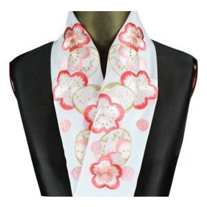 半襟 H-19 刺繍半襟 帝人ファイバー シルフィル 半衿 振袖 訪問着 小紋 半衿 日本製|ran