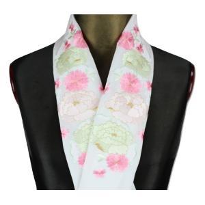 半襟 H-22 刺繍半襟 振袖 訪問着 小紋 刺繍入り 半衿 日本製 パールドロン刺繍衿|ran