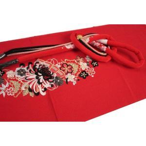 振袖用 正絹  豪華 刺繍帯揚げ&正絹 桜刺繍入り 丸ぐけ帯締め 2点セット CX1-MA-3|ran