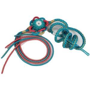 帯締め 振袖用 正絹 KHK-1 花飾り付 ラインストーン入り 成人式|ran