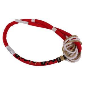 正絹 振袖用 桜刺繍入り 丸ぐけ帯締め MA-1 レッド 日本製|ran