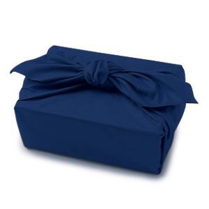 風呂敷 綿 ブロード 有職 ふろしき 三巾 日本製 紺色|ran
