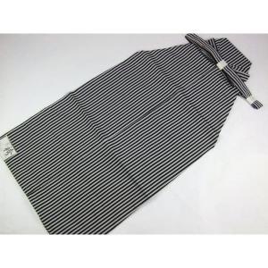 柄は粋な黒とグレーの縞模様です。  縦縞(ストライプ)の幅は約0.6cmでございます。     ■素...