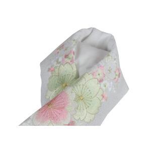 半衿 振袖 礼装用 太ちりめん 豪華 刺繍入り 白地 半襟 FGS-4|ran