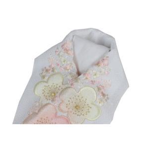 半衿 振袖 礼装用 太ちりめん 豪華 刺繍入り 白地 半襟 FGS-6|ran