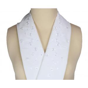 半衿 礼装用 刺繍入り 白地 半襟 SiH-5 ran