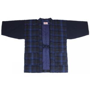 半纏 はんてん HJN-2 男性用 久留米 縦パッチ わた入れ 日本製 宮田織物|ran