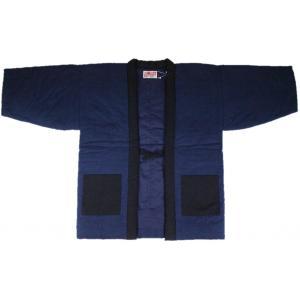 半纏 はんてん HJN-3 男性用 久留米 わた入れ 和半天 日本製 宮田織物 紺|ran