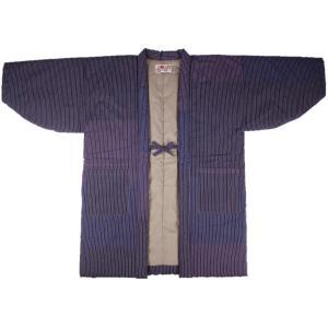 半纏 はんてん HJN-5 男性用 久留米 わた入れ 樹氷半天 日本製 宮田織物 パープル|ran