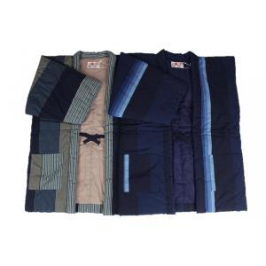 半纏  はんてん HVN 男性用 久留米 縦パッチ わた入れ 日本製 宮田織物|ran