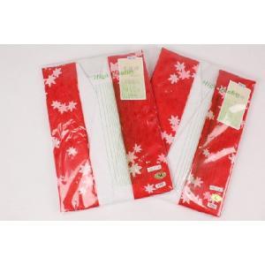半襦袢 (掛け衿付、袖付) M/Lサイズ 赤A4